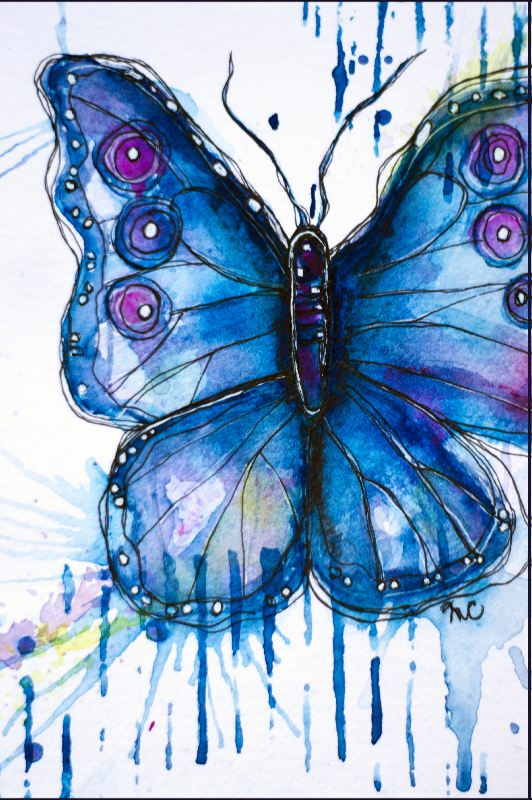butterfly-4x6-watercolour-and-mixed-on-papercompressed