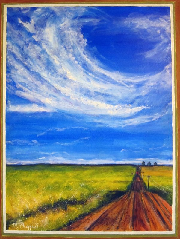 Canola Fields with Big Sky (sold)