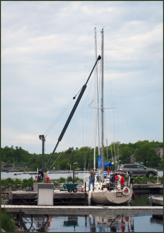 Guinevere stepping the mast