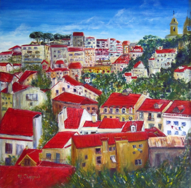 Portuguese Rooftops 36x36 (sold)