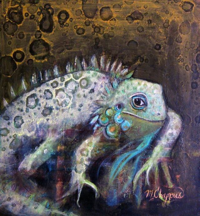 Whimsical Iguana (gifted)