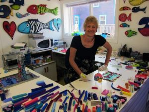 The owner/fimo artist at the gift shop.  We bought a couple of her small pieces of art for gifts.