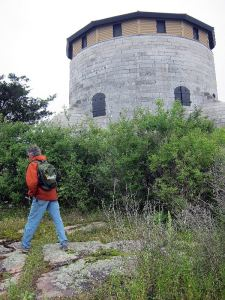 We got a close-up view of a cathcart tower on Cedar Island.