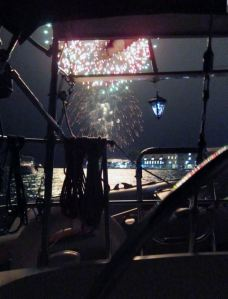 Surprise fireworks in Kingston at Navy Bay