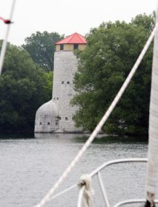 We anchored right next to one of the iconic cathcart towers.