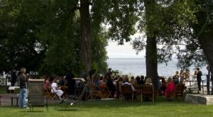 When we got back to the winery and our dinghy at the dock, a wedding ceremony was taking place.