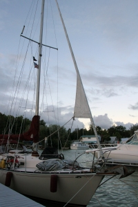 Safe and sound, settled into the Bayfield Municipal Marina.