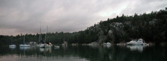 The Breathtaking Anchorage of Covered Portage Cove in the Morning