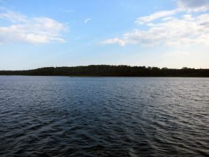 Panorama of Clapperton Island Anchorage Surrounding Guinevere