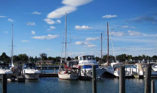 Guinevere at the Tawas marina.
